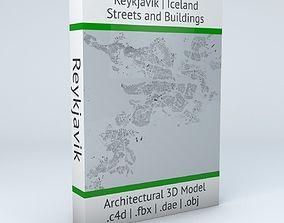 Reykjavik Streets and Buildings 3D model