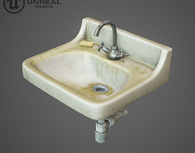 3D model low-poly Washbasin