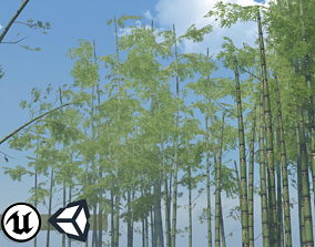 low-poly Nature Assets - Bamboo Pack