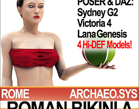 Ancient Roman Bikini A Props Poser Daz 3D model