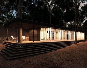 3D Modern Oblong House Design