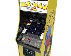 Pacman Arcade cabinet 3D asset
