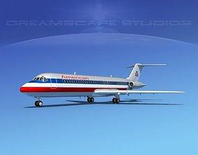 3D model Douglas DC-9-30 American Airlines