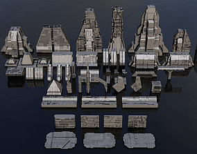 3D model Sci-Fi Architecture Kitbash Set