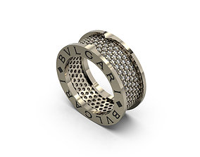 ring bvlgari 3d models download wooding ring isolated