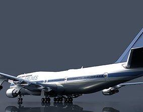 airport Boeing 747 3D model