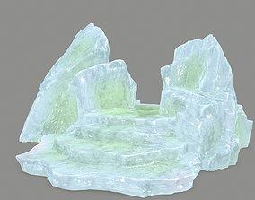 Stone 3D model game-ready snowy