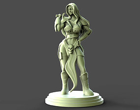 Girl and Sword Sculpture 3D printable model