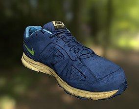 realtime Worn Nike shoe low poly 3D model