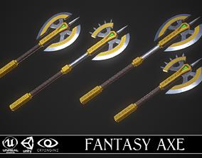 3D Fantasy Axe 04 - 4 Variations