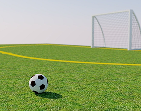 Playing field football soccer 3D model