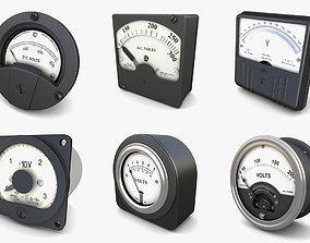Analog Voltmeters collection vol 3 3D