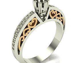 ENGAGEMENT RING 3D printable model diamond jewel