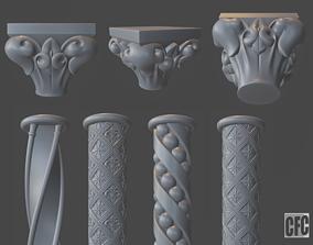 art Goth column collection 3D model