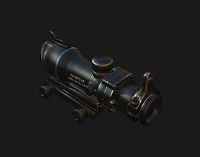optical sight ACOG 3D asset VR / AR ready