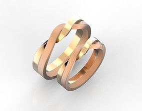 3D print model wedding-rings Eternity wedding bands