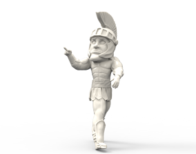 3D printable model Sparty Michigan State University
