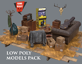 3D model House Old PBR LowPoly