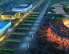 3D model Beijing Olympic Sports Stadium