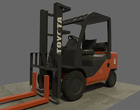3D industerial forklift