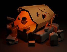 Decorative Log 3D asset