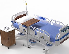 3D model VR / AR ready Hospital Bed