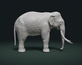 3D printable model High poly elephant