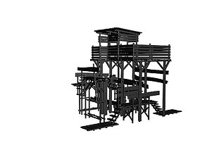 Game tower 3D model