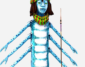 3D asset Centipede Rastaman in Great Rest - Catter