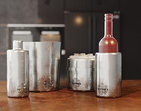 Duke Stainless Steel Cocktail 3D model realtime