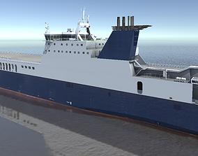 VR / AR ready Ro-Ro Cargo Ship 3d model