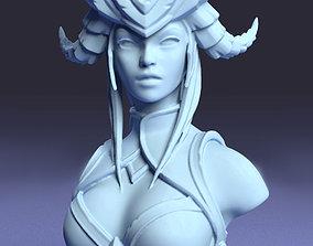 3D print model Daemon girl bust