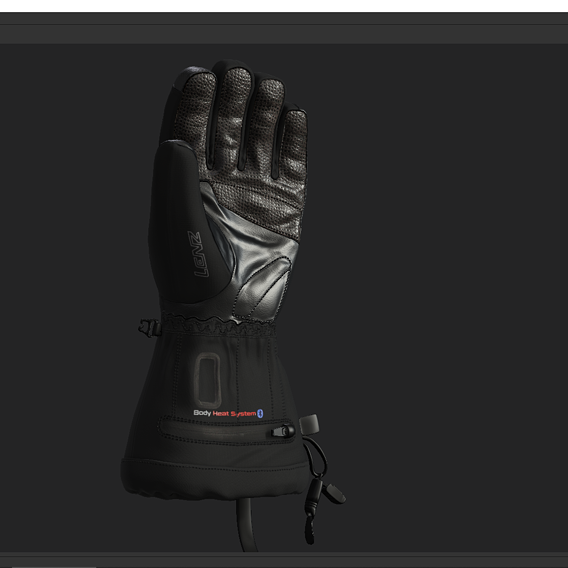 winter Gloves Low-poly