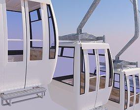 3D model cableway car