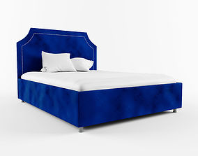 Bed with upholstered headboard 3D