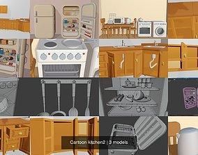 3D Cartoon kitchen2