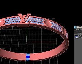 3D printable model Luis vuitton bracelet diamond