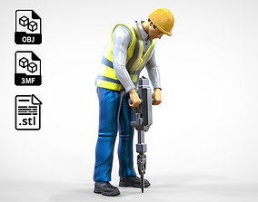 3D printable model N1 Road Worker with Electric hammer