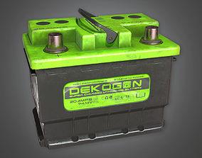 Old Car Battery TLS - PBR Game Ready 3D model