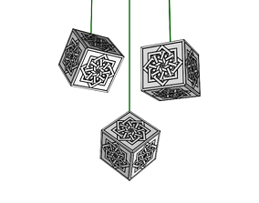 luster decorated with it geometric decoration 3D