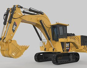 Mining Excavator Rigged 3D
