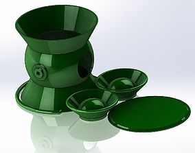 3D printable model Green Lattern Lamp