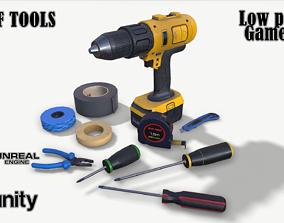 Set of tools 01 3D model