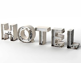 Hotel Title 3D model letters