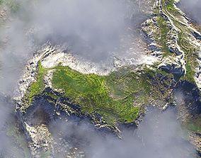 PBR Cinematic Highlands Landscape 3D asset realtime