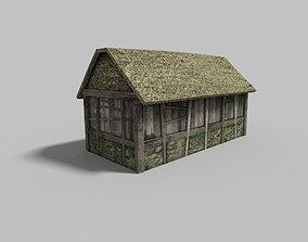 3D asset low poly village house 1