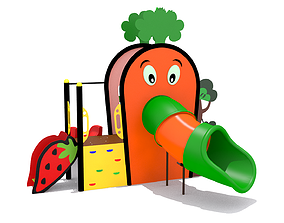 3D asset Playground- Carrot Playset