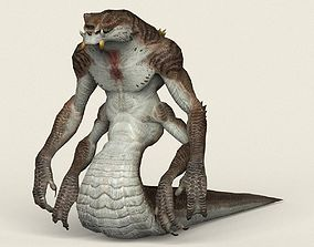 Game Ready Fantasy Cobra Snake 3D model