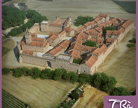 WALLED MEDIEVAL TOWN 3D