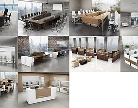 10 Office Interior Pack Collection 3D